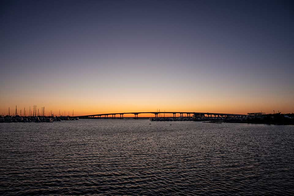 Sunset at Beaufort bridge