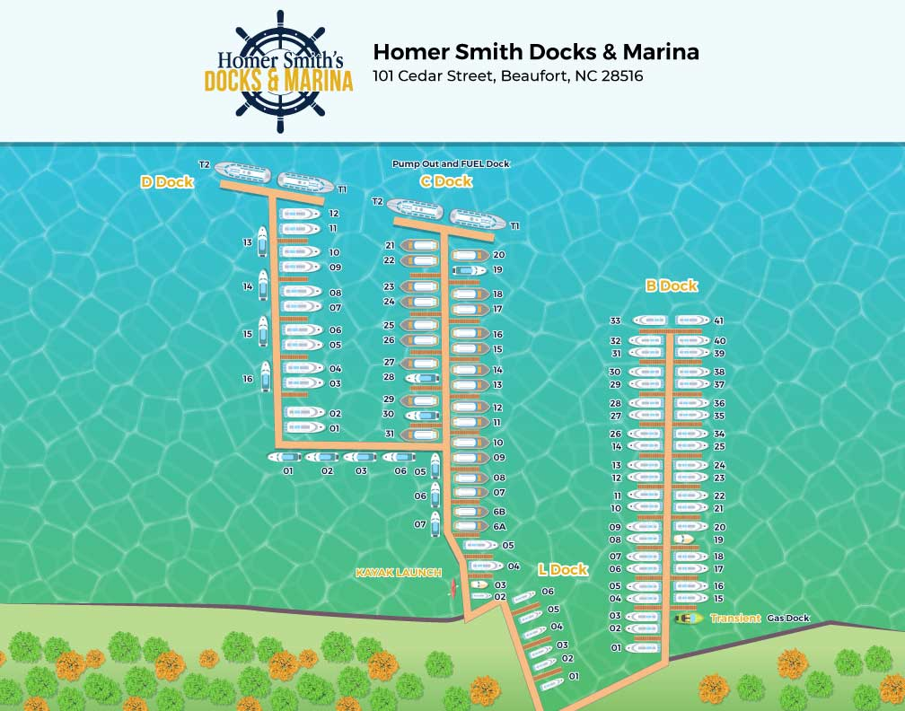 Homer Smith Docks Map