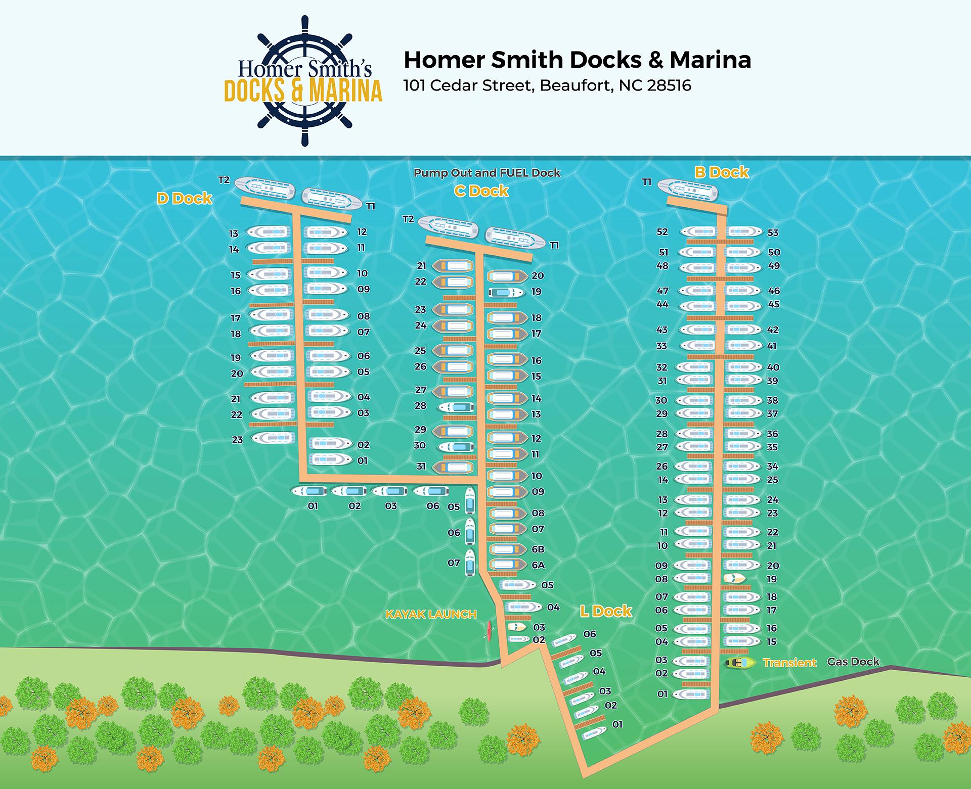 Homer Smith Docks Map